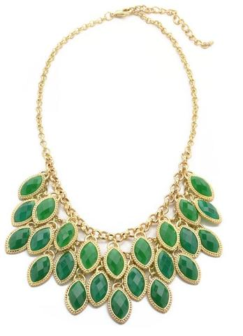 Green Bib Necklace at www.outfitadditions.com