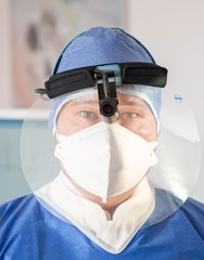 Face protection against droplet infection from ATMOS