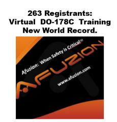 263 Registrations to AFuzion's Virtual Online DO-178C Training:  A New Record