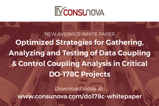 "New Avionics Whitepaper by ConsuNova: ""Optimized DO-178C Strategies for Data Coupling and Control Coupling Analysis…"