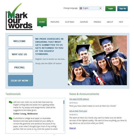 Mark Our Word's Website