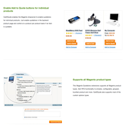 Screenshots of Cart2Quote Quotation features in Magento