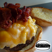 """Boston Burger Company's """"Mac Attack"""" burger featured on Guy Fieri's """"Diners, Drive-Ins and Dives"""" aired on the  Food Network'."""