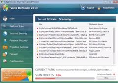 Vista Defender 2013 may change based on the operating system it has infected.
