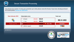 Even Vista Defender 2013's purchase form looks legitimate but do not be fooled. Vista Defender 2013 is a complete scam!