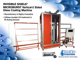 Unelko Announces the Launch of its New Invisible Shield Microburst Vertical Two Sided Glass Coating Machine within the C…