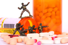 From 2001 to 2009, the Army's suicide rate increased more than 150 percent while orders for psychiatric drugs rose 76 percent.