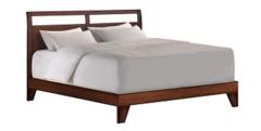 Dominique Cal King Wood Platform Bed - Dark Walnut