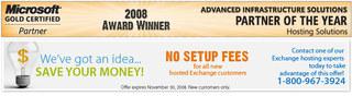 123Together.com Eliminates Customer Setup Fees for Its Hosted Exchange Service