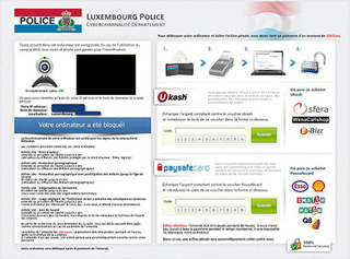 Luxembourg Police Virus Ransomware Affecting French PC Users with Money-Swindling Messages