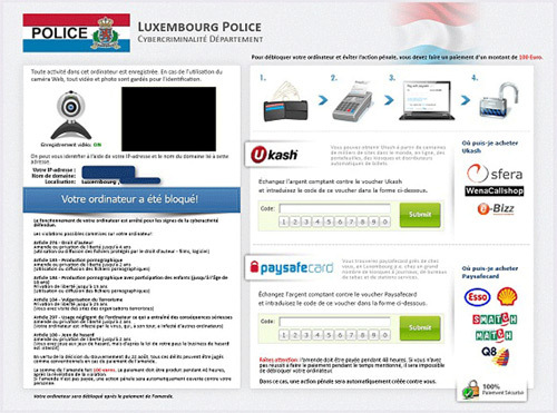 Luxembourg Police Virus is ransomware designed to scare PC users into thinking that they must pay a fine for violating copyright laws.