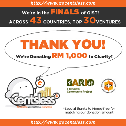 Centsless donates RM1000 to Bario Community Project