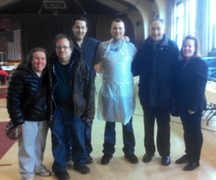 Diamond Vision gave back to their community by hosting a Hurricane Sandy Relief effort and providing hot meals to more than 200 people.
