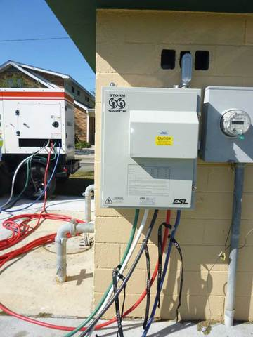 Permanently installed StormSwitch Manual Transfer Switch allows City of Gretna to safely and quickly connect to back-up generators.